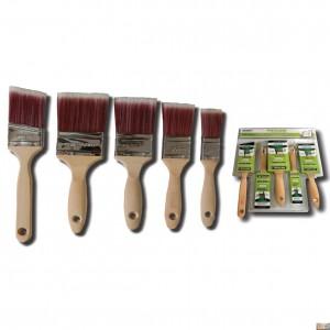 Sada plochých štětců 5 kusů dřevěná rukojeť, XT303