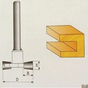 JOBIprofi Tvarová fréza do dřeva 8x9.4mm, P70805