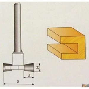 JOBIprofi Tvarová fréza do dřeva 10x9.4mm, P70806