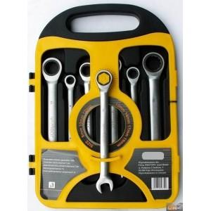 Sada ráčnových klíčů 8-19, 7dílů plastový držák, KL344700