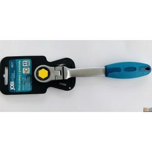Klíč ráčnový očkový kloubový 17mm, X0317