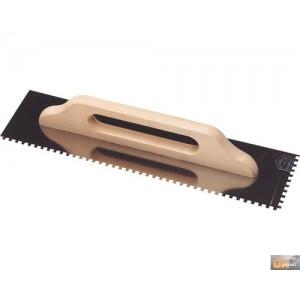 Hladítko nerezové zubové 10x10mm 480x130mm dřev.rukojeť,127150E10-P