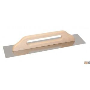 Hladítko nerezové hladké 380x130mm dřev.rukojeť,127140-P