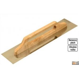 Hladítko nerezové hladké 480x130mm dřev.rukojeť,127150-P