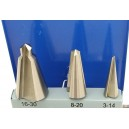 Sada kuželových vrtáků do plechu HSS 3ks 3-30mm,FT0330