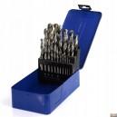 Sada vrtáků do kovu HSS 1-13mm 25ks v kovovém pouzdře, FT4025BC
