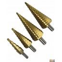 Sada stupňovitých vrtáků 4ks 4-32mm, MF04432B