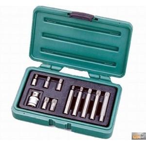 """Sada 1/2"""" bitů XZN M5-M12, 10mm. 11dílu Honiton, H4011"""