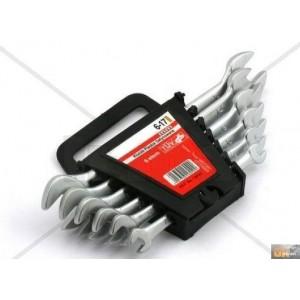 Sada plochých klíčů 6-17 mm 6 dílů matný chrom, 16040