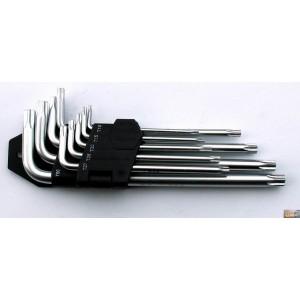 Sada klíčů TORX s otvorem T10-T50 9 dílů, P16613