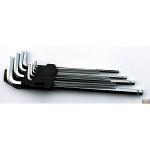 JOBIprofi Sada klíčů IMBUS s kuličkou prodloužené 9 dílů, P16616