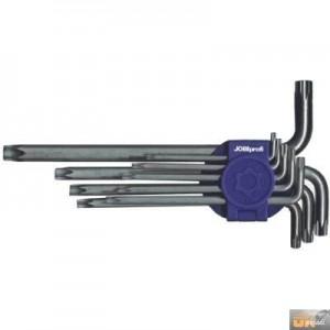 JOBIprofi Sada klíčů TORX s otvorem T10-T50 9 dílů, 16615