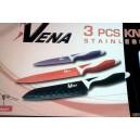 Sada nožů kov-teflon VENA 3ks,V3